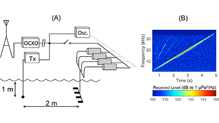 Beamforming using chip-scale atomic clocks in a controlled