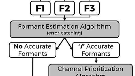 """Formant priority channel selection for an """"n-of-m"""" sound"""
